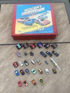 Lot of 30 Vintage / 1980's Micro Machines Mini Cars w/ Tara Collectors' Case