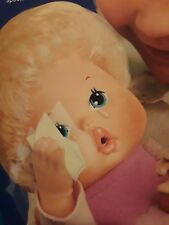 Vtg 1980 Kenner Wipe Your Tears Baby Doll Complete Sealed Original Box Brand New