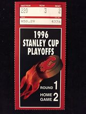 APRIL 23/1996 NHL CALGARY FLAMES TICKET STUB JAROME IGINLA 1st NHL GOAL