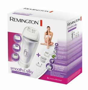 Remington Smooth & Silky 7 in 1 Wet & Dry Cordless Epilator Hair Remover Shaver