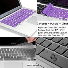 "Waterproof Silicone Keyboard Cover Skin for Apple Macbook Pro /Retina 11 13"" 15"
