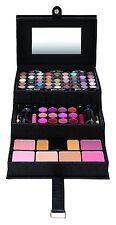 82 piezas Conjunto de maquillaje caso de vanidad Profesional Caja De Belleza Negra Kit de 3 niveles Grande