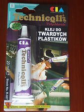 STRONG CLEAR ADHESIVE GLUE - HARD PLASTIC, ABS TR EVA PERSPEX,ACRYLIC GLASSD
