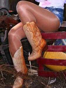 PEAVEY HIGH GLOSS TIGHTS Hooters Shiny Tight Pantyhose/Hosiery Size A B C D Q XL