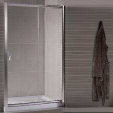 Box doccia nicchia 110 porta scorrevole ante in cristallo 6 mm vetro trasparente