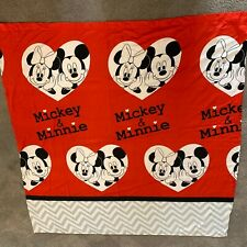 "Disney Mickey Mouse and Minnie 70"" x 72"" Fabric Shower Curtain"