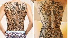 Full Body Fake Tattoo Temporary Tattoo Einmal Tattoo Samurai&Death Head MB-0012