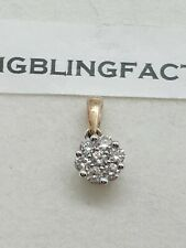 100% GenuineMichael Hill Jewellers 10ct Light Rose Gold Diamond Cluster Pendant
