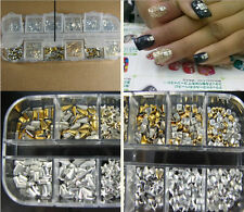 1200pcs Punk 3D ACRYLIC Nail Art Alloy Rivet Studs Spikes DIY Decoration tips XJ