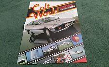 FOLLETO de carpeta Reino Unido Mundial 1983 Colt Cordia Starion Sapporo Galant Mirage Turbo