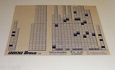 Microfich Ersatzteilkatalog Fiat Brava 1.8 Stand 03/1996
