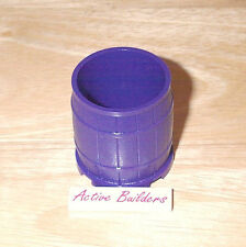 Lego Barrel Large Container with Wood Pattern 6857 Dark Purple