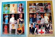 2 NIGER 1997 MNH PRINCESS DIANA STAMPS SHEETS ROYALTY DIANA IN GOWNS ELTON JOHN