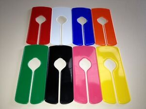 Set Of 8 new Plain gloss Garment Clothes Rail Dividers in 8 Multiple Colours