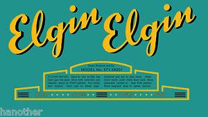 Vintage antique Sears Elgin vinyl decal outboard boat motor set 1947-1954