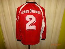Kickers Offenbach Original uhlsport Junior Langarm Matchworn Trikot + Nr.2 Gr.S