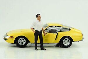70`S Mann Giovanni Figurine Figurines Driver 1:18 American Diorama Iiii No Car