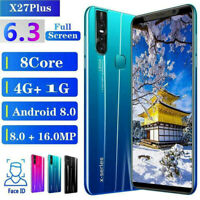 """2020 1+4GB 6.3"""" Android 9.0 Unlocked Smartphone Cell Phone Dual SIM Phablet GPS"""