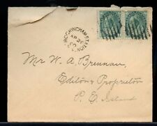 ROCKINGHAM STATION N.S.1900 -  2x1c numeral Canada cover