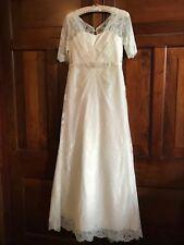 MONSOON Wedding Dress NEVENA UK 10 L Ivory Lace Vintage Beaded BNWT Rrp  £299