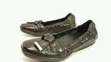 Clarks Artisan Ballet Flats Black Leather 6 M Loafers Active Air 87360 Shoes