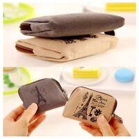 Vintage Retro Women Mini Zipper Wallet Canvas Coin Bag Purse Bags Card Case