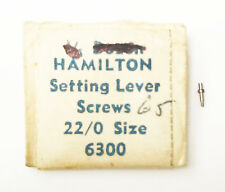 Material Refill 140 Setting Lever Screws Hamilton Original Genuine 22/0 6300 Cab