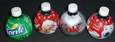 COCA-COLA 2009 HOLIDAY FULL 13.5oz BOTTLES SET OF 4 POLAR BEAR SANTA SPRITE DIET