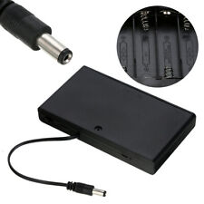 8x AA Battery Holder Storage Case DIY DC 12V Switch Wire Lead 2.1mm x 5.5mm Plug