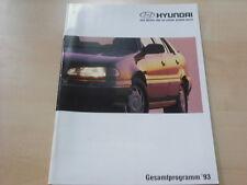 54194) Hyundai Pony Lantra Sonata S Coupe Prospekt 1993
