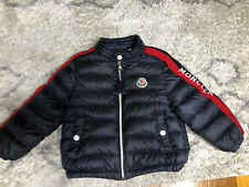 Moncler Toddler Baby Boy 18/24 Mesi 86 Cm Navy Blue Zip Light Puffer Coat Jacket