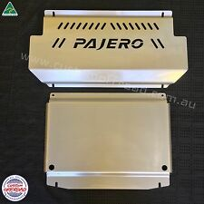 NM-NX Pajero - 3mm Mild Steel 2pce Sump Guard and Intercooler Bash Plate Set