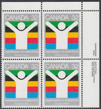 Canada - #981 World University Games Plate Block - MNH