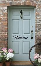 Welcome Door Vinyl Decal Sticker Front Door Custom Foyer Decor Peel and Stick