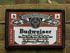 Budweiser Beer Morale Patch Tactical Military Hook Badge Flag USA Bud Budman