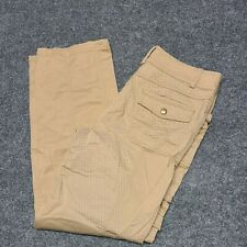 AGB Brown Pants Womens 4 Stretch Pockets Zipper Double Snaps Cargo Straight