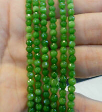 "Beautiful 4mm Faceted Green Peridot Round Loose Beads Gemstone 15""AAA"