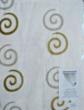 """Delicate Cream slot top Voile with Gold Swirl. 59"""" x 54"""" Long.Free Tie Back.NEW!"""