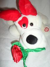 "Mty Int Love Puppy Dog Interactive Love 13"" Rose Plush Soft Toy Stuffed Animal"