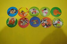082 pogs pog caps milkcaps flippo : lot de 10 flippo looney tunes