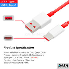 OEM Oneplus USB 3.1 Type C Fast Dash Charging Charge Cable For three 3 5 3T 5T