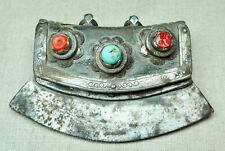 Antique Tibetan Leather Copper Brass Iron Fire Starter Chuckmuck Tinder Pouch