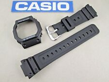 Genuine Casio G-Shock G5600 G-5600 black resin rubber watch band & bezel set