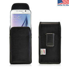 Turtleback Samsung Galaxy S6 Leather Pouch Holster Phone Black Belt Clip Case
