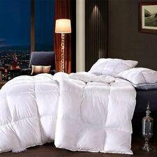 100% Goose Down Comforter White Gray Queen King Sz Bedding Set Quilt Duvet Cover