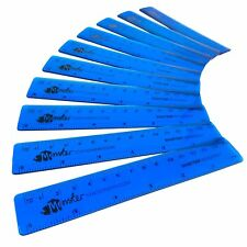 Monster Stationery - Transparent Rulers - 6 Inch / 15cm  Class Pack of 50 - Blue