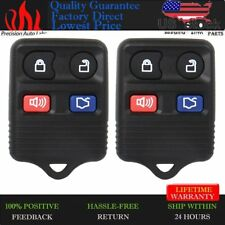 2pcs Remote Keyless Entry Control Car Key Fob Clicker Transmitter Replacement