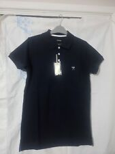 Men Diesel T-Yahei Polo Shirt 81E Blue Small Metal Logo