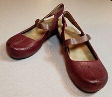 Women's OTBT SPRINGFIELD Burgandy Leather Wedge Heel Shoe Size 7