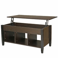 Durable Lift Top Coffee Table Hide Toys Books Dinning Table for Living Room